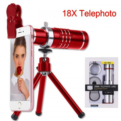 18X Optical Zoom Universal for iPhone Samsung MIMU Huawei Mobile Phone External Telescope