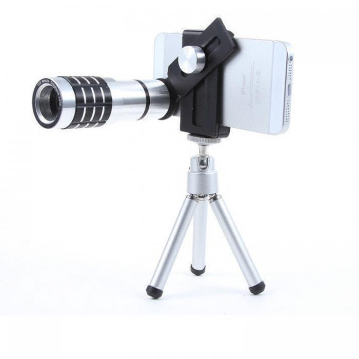 12X Mobile Telephoto Lens With Clip And Tripod