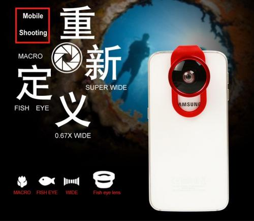 4 in 1 Special Effect Mobile Lens Wide Angle+Macro+Fisheye+0.4X